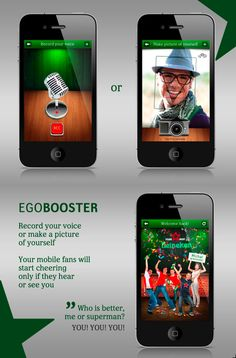 If you a star you got to have fans :) Now they live in your mobile. (Heineken)