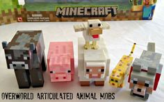The overworld articulated animal mobs toys from Minecraft. These are excellent companions for a Steve action figure! A must have to create your favorite scenes from a game kids are obsessed with. I love it!