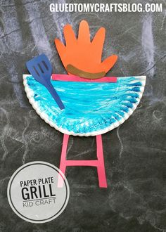 Paper Plate Grill - Summer Themed Kid Craft Idea
