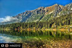 Dnešná spomienka na pekné letné dni  #praveslovenske od @miki2312  High Tatras #hightatras #vysoketatry #popradskepleso #trees  #slovakia #slovensko #landscape #mountains #forest #nature #lake #rocks #tatramountains