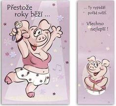 Vtipné přání s obálkou pro ženu nejen k narozeninám