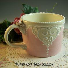 Whimsical Bliss Studios - Lacey Heart Mug