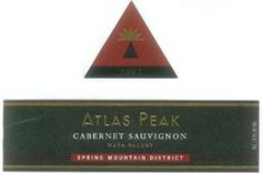 2007 Atlas Peak Spring Mountain District Cabernet Sauvignon 750 mL