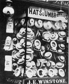 """1906 number 29 East Street """"Hats for Sale"""" back to a time when everyone owned a hat. City Of Bristol, Bristol Uk, Stuff To Do, Things To Do, Old Things, Candid Photography, Street Photography, The Wealth Of Nations, British Shop"""