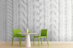 White Knit Texture Wall Mural, how fun!