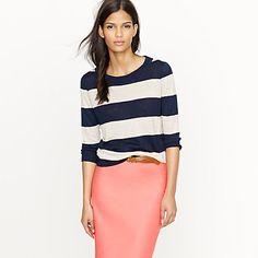 Tippi sweater in linen stripe