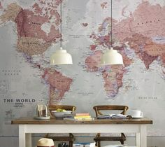 Executive World Map by Printed Space – $650