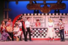 grease stage show Grease Broadway, Grease Musical, Set Design Theatre, Stage Design, John Travolta, Grease Play, Footloose Musical, Grease 2016, Burger Palace