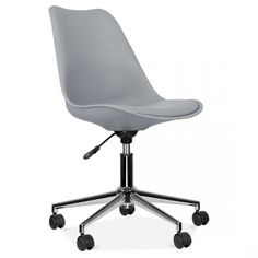 Eames Inspired Office Chair With Castors Cool Grey Cult Uk