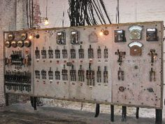 Main switchboard in the Biltmore house electrical room (photo courtesy of the Biltmore Estate Archive). Used Solar Panels, Solar Panel Cost, Solar Energy Panels, Biltmore Estate Asheville Nc, Vanderbilt Estate, Power Energy, Historic Homes, Mansions, Frame