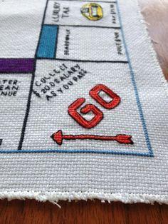 Cross stitch Monopoly board                                                                                                                                                                                 More