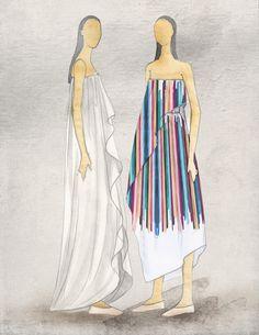 """Tropical fusion."" — Tia Cibani Sketch"