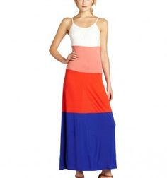 Orange and Blue Maxi Game Day Dress