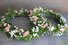 Coronas para niñas flor natural rosa Mayula Flores
