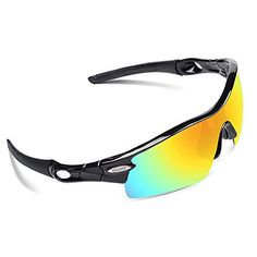 ef79b63baf7f UK Golf Gear - OBERLY Polarized Sports Sunglasses with 4 Interchangeable  Lenses for Men Women Cycling Baseball Golf Fishing Driving Glasses