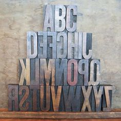 "Wood Type Alphabet 3.25"" now featured on Fab."