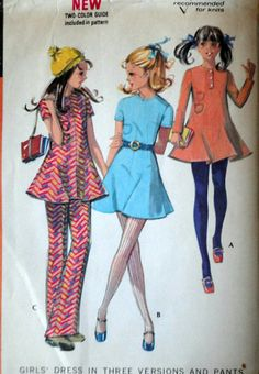 McCall's 2554 Vintage 70's Sewing Pattern by MemoryMadeMercantile