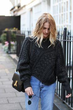 STROLLING THROUGH THE CITY ISABEL MARANT      versus knit jumper LEVIS vintage 501 jeans CÉLINE        box bag SAINT LAURENT chelsea boots