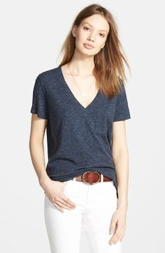 Main Image - Madewell 'Whisper' Cotton V-Neck Pocket Tee
