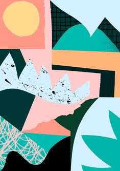 'Humid' www.tomabbisssmithart.com #abstract #collage #surface #pattern #design #shapes