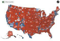 日本人が知ってるアメリカとは、クリントン氏が勝利した地域の部分と重なることに地図を見て気づく - Togetterまとめ