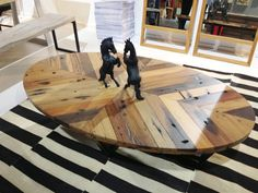 Reclaimed Wood Table Made from Shipwrecked Boats by Aellon Furniture — Brooklyn Designs 2013 | Apartment Therapy
