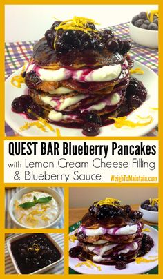 Bar Pancakes – Blueberry Pancakes with Lemon Cream Cheese Filling ...