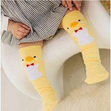 Cute Soft Cotton Kawaii Girls Boys Sock Duck Penguin Design Catoon Pattern Kids Socks Baby Long Socks(China (Mainland))