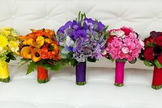 floral recipe: rainbow wedding flowers