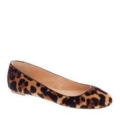 j crew Collection Nora calf hair ballet flats Animal Print Flats, Leopard Print Shoes, Ballerine Leopard, Cute Shoes, Me Too Shoes, Leopard Ballet Flats, Italian Leather Shoes, Shoe Boots, Women's Shoes