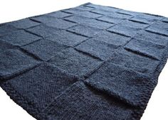 Knitted Squares Blanket Tutorial