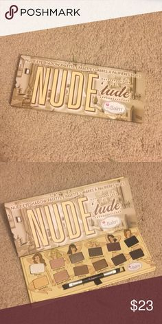 The Balm NudeTude eyeshadow palette-naughty New the balm 12-shades nude eyeshadow palette. Great for everyday use. Fit for every skin tone. the balm Makeup Eyeshadow
