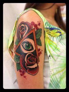 Eye Rose tattoo