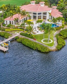 Outstanding property with golf and deep water views // Listed by: Admirals Cove Realty // Dream House Interior, Beautiful Houses Interior, Luxury Homes Dream Houses, Dream Home Design, Luxury Life, Luxury Real Estate, Beautiful Homes, Modern Residential Architecture, Architecture Design
