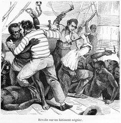 Revolt Aboard Slave Ship, 19th cent. bis