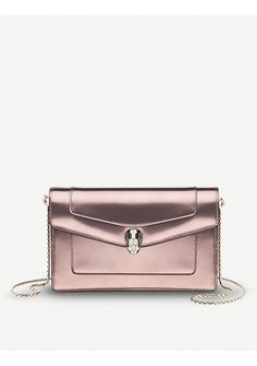 BVLGARI - Serpenti Forever patent-leather pouch bag | Selfridges.com