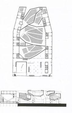 steven holl, palazzo del cinema pianta, venezia, 1990