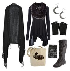 """""""casual forest witch"""" by n-nyx ❤ liked on Polyvore featuring Valentino, AllSaints, DRKSHDW, Charlotte Russe, women's clothing, women, female, woman, misses and juniors"""