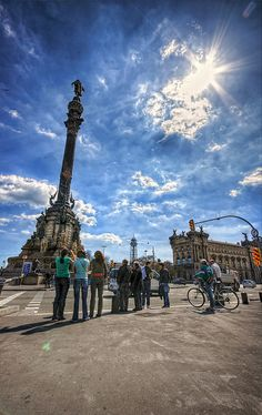 Barcelona Passeig de Colom (Colombus) by HDR-newaddict, via Flickr