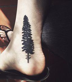 Pine Tree Tattoo by GalleryPiece.deviantart.com on @deviantART