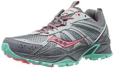 Awesome Saucony Women's Excursion TR8 Trail Running Shoe,Grey/Coral/Mint,8.5 M US