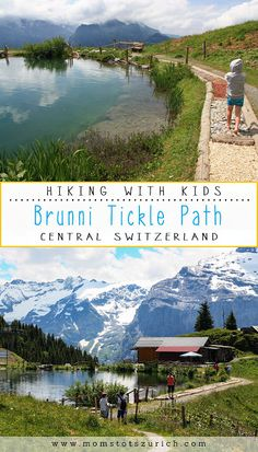 The Brunni Barefoot Tickle Path is a short sensory path around a little pond, where you walk barefoot over surfaces like stones, sticks, bark, mud, and even cow pies. Great for families. There are multiple picnic areas with playgrounds and fantastic panoramic views of surrounding mountains. Engelberg, Central Switzerland.