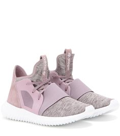 Adidas - Tubular Defiant sneakers - Adidas' 'Tubular Defiant' sneakers are kept seriously cool in pretty shades of mauve and dusty pink. The suede panel to the back provides textural contrast against the fabric upper, and we love the sleek shape and chunky rubber sole. Style with leather and denim for a look suited to easy days in the city. seen @ www.mytheresa.com
