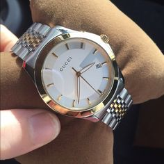 44de08defcc Gucci watch Authentic two tone Gucci watch. Includes case and box   extra  links. Lightly used. Unisex. --(EXCLUDED from BUNDLE DISCOUNT!!)