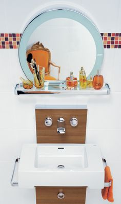 KLUDI JOOP! boudoir wastafelmengkraan voor wandmontage.