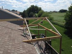 Backyard Patio Designs, Pergola Designs, Pergola Patio, Pergola Kits, Pergola Ideas, Casas Containers, Roof Extension, Building A Porch, Porch Roof