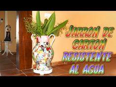 manualidades DIY: jarron de carton resistente al agua - Santiago y Sus I...
