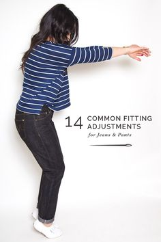 Master jean fitting adjustments with these tips for your best fitting jeans! We illustrate how to diagnose fit issues, and how to fix them.