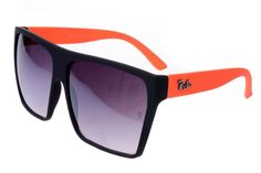 Ray Ban Clubmaster RB2128 Sunglasses Orange/Black Frame