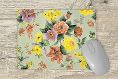 Mouse Pad floral Vivid Colors, Pink Flowers, This Or That Questions, Floral, Pattern, Design, Florals, Vibrant Colors, Flowers